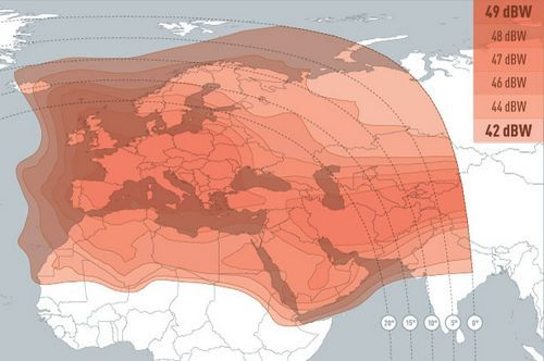 европейский луч Eutelsat 3B (3°E)